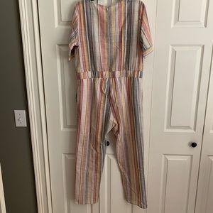 orange creek Other - Summery Striped Jumpsuit